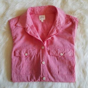 J. Crew Cotton Voile Camp Shirt in Perfect Fit XS